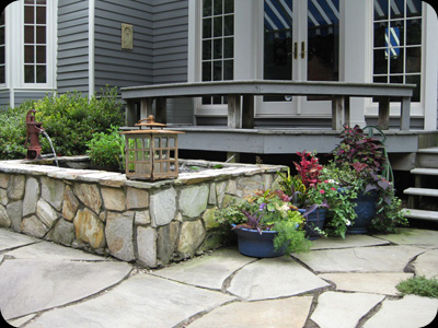 Dry Laid Natural Stone Patio